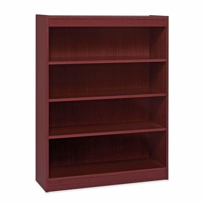 4 Shelf Panel Bookcase - Mahogany - LLR60072