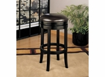"404 30"" Backless Swivel Barstool in Brown Leather / Espresso - Armen Living - LCMBS404BAES30"