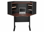 "42"" Corner Desk and Hutch Set - Series A Hansen Cherry Collection - Bush Office Furniture - WC94442-43"