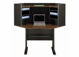 "42"" Corner Desk and Hutch Set - Series A Walnut Collection - Bush Office Furniture - WC25542-43"