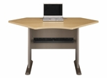 "42"" Corner Desk - Series A Light Oak Collection - Bush Office Furniture - WC64342"