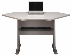 "42"" Corner Desk - Series A Pewter Collection - Bush Office Furniture - WC14542"