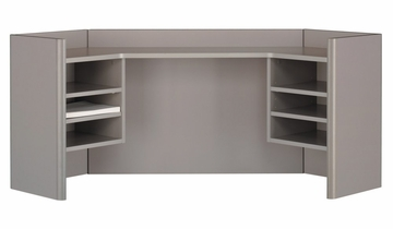 "42"" Corner Hutch - Series A Pewter Collection - Bush Office Furniture - WC14543"