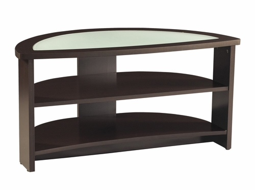 42 Inch Half Moon TV Stand with Glass - Office Star - TV1642EG