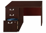 "42"" Left Return with Pedestal - Quantum Harvest Cherry Collection - Bush Office Furniture - QT6415CS"