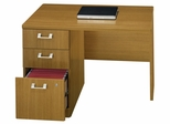 "42"" Left Return with Pedestal - Quantum Modern Cherry Collection - Bush Office Furniture - QT6415MC"