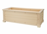 "42"" Rectangular Planter in Natural Cedar - NewAgeGarden - EPLT101-R42"