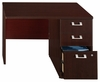 "42"" Right Return with Pedestal - Quantum Harvest Cherry Collection - Bush Office Furniture - QT6405CS"