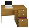 "42"" Right Return with Pedestal - Quantum Modern Cherry Collection - Bush Office Furniture - QT6405MC"