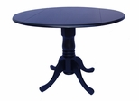 "42"" Round Dual Drop Leaf Pedestal Table in Black - T46-42DP"