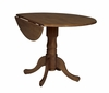 "42"" Round Dual Drop Leaf Pedestal Table in Cottage Oak - T48-42DP"
