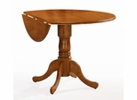 "42"" Round Dual Drop Leaf Pedestal Table in Oak - T04-42DP"
