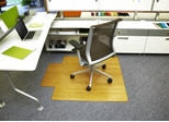 "44"" x 52"" - Bamboo Roll-Up Office Chair Mat in Natural - AMB24005W"