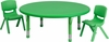 45'' Round Adjustable Green Activity Table Set - YU-YCX-0053-2-ROUND-TBL-GREEN-R-GG