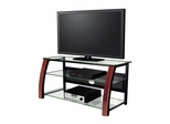 "47"" Flat Panel Plasma LCD HD TV Stand / Media Console Center in Black / Red Cherry Wood - TVS-681-5"