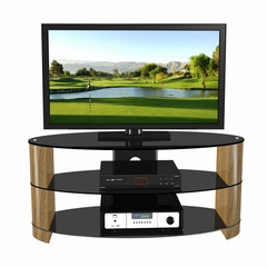 "47"" Flat Panel Plasma LCD HD TV Stand / Media Console Center in Black / Walnut - TVS-986-3"