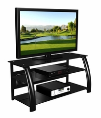 "47"" Flat Panel Plasma LCD HD TV Stand / Media Console Center in Glossy Black - TVS-685-6"