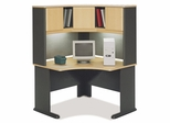 "48"" Corner Desk and Hutch Set - Series A Beech Collection - Bush Office Furniture - WC14366-67"