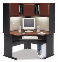 "48"" Corner Desk and Hutch Set - Series A Hansen Cherry Collection - Bush Office Furniture - WC90466A-67"