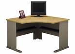 "48"" Corner Desk - Series A Light Oak Collection - Bush Office Furniture - WC64366"