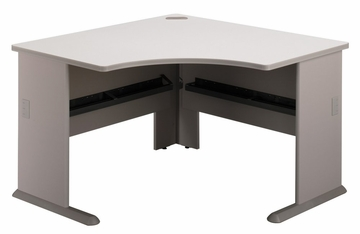 "48"" Corner Desk - Series A Pewter Collection - Bush Office Furniture - WC14566"