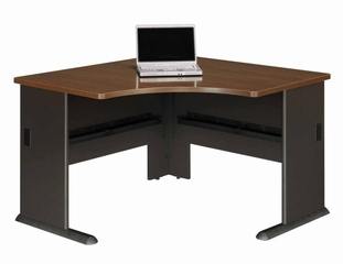 "48"" Corner Desk - Series A Walnut Collection - Bush Office Furniture - WC25566"