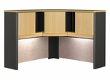 "48"" Corner Hutch - Series A Beech Collection - Bush Office Furniture - WC14367"