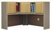 "48"" Corner Hutch - Series A Light Oak Collection - Bush Office Furniture - WC64367"