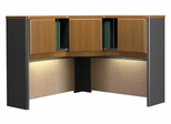 "48"" Corner Hutch - Series A Natural Cherry Collection - Bush Office Furniture - WC57467"