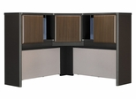 "48"" Corner Hutch - Series A Walnut Collection - Bush Office Furniture - WC25567"