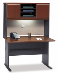 "48"" Desk and Hutch Set - Series A Hansen Cherry Collection - Bush Office Furniture - WC90448A-49"