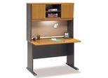 "48"" Desk and Hutch Set - Series A Natural Cherry Collection - Bush Office Furniture - WC57448-49"