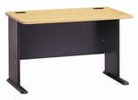 "48"" Desk - Series A Beech Collection - Bush Office Furniture - WC14348"