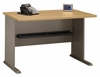 "48"" Desk - Series A Light Oak Collection - Bush Office Furniture - WC64348"