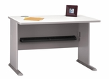 "48"" Desk - Series A Pewter Collection - Bush Office Furniture - WC14548"