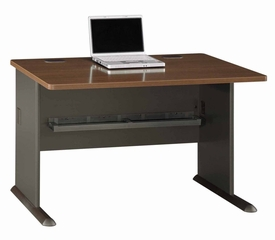 "48"" Desk - Series A Walnut Collection - Bush Office Furniture - WC25548"