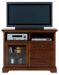 "48"" Eureka Cherry Media Unit with Glass Door - 042-9"