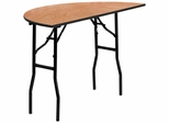 48'' Half-Round Wood Folding Banquet Table - YT-WHRFT48-HF-GG