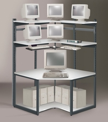 48 Inch E-LAN Corner Computer Station - Mayline Office Furniture - 211CNREZ