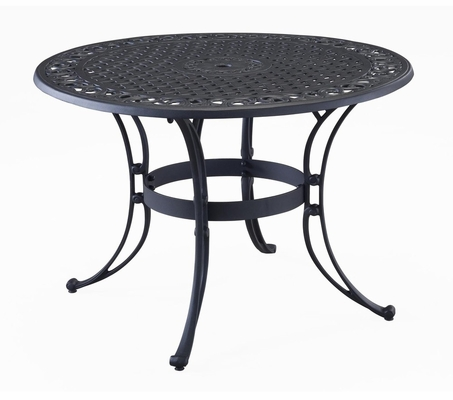 48 Inch Round Outdoor Dining Table in Black - Home Styles - 5554-32