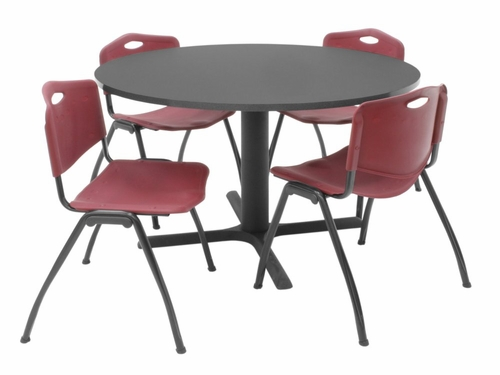 48 Inch Round Table and 4