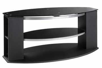 48 Inch TV Stand with Black Glass - Office Star - TV1148BKG