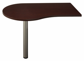 "48"" Left Peninsula - Quantum Harvest Cherry Collection - Bush Office Furniture - QT7455CS"