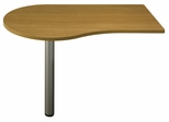 "48"" Left Peninsula - Quantum Modern Cherry Collection - Bush Office Furniture - QT7455MC"