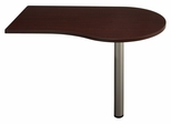"48"" Right Peninsula - Quantum Harvest Cherry Collection - Bush Office Furniture - QT7465CS"
