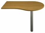 "48"" Right Peninsula - Quantum Modern Cherry Collection - Bush Office Furniture - QT7465MC"