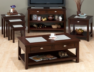 4PC Accent Table Set in Chadwick Espresso - 864-1