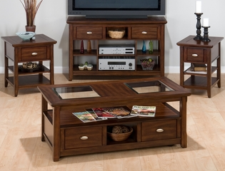 4PC Livingroom Table Set in Bellingham Brown - 709-1