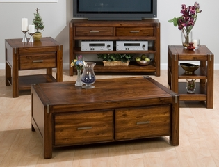 4PC Livingroom Table Set in Rustic Loft - 752-5