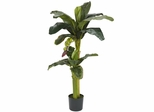 5'+3' Banana Silk Tree with Bananas - Nearly Natural - 5323